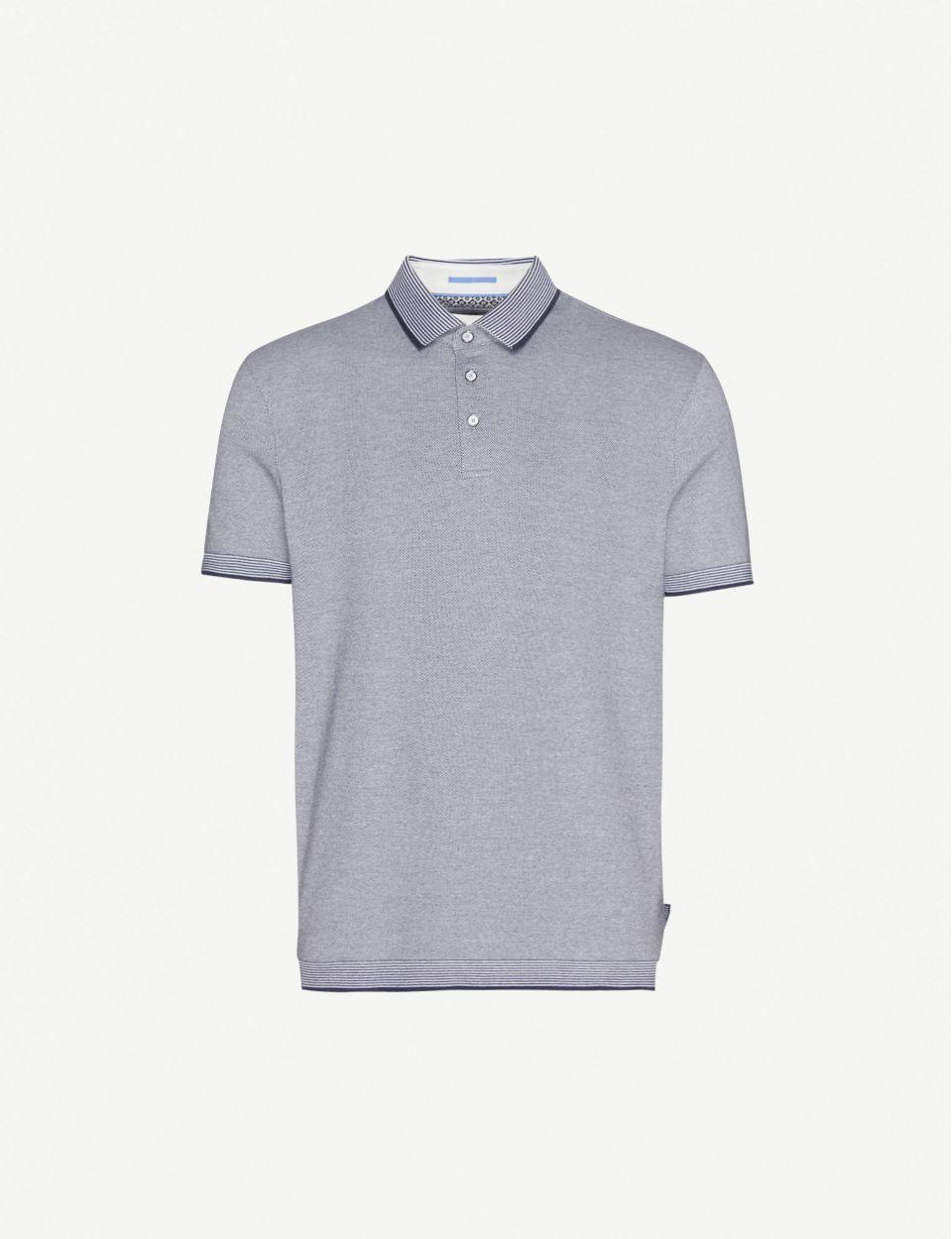 Ribstart cotton-piqué polo shirt