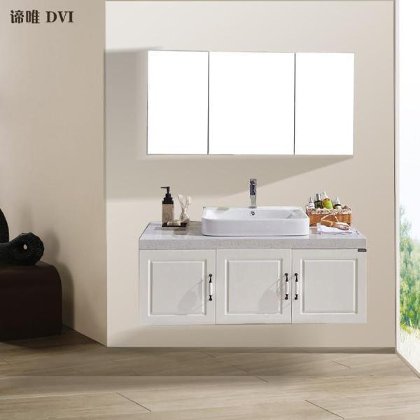 谛唯 卫浴 定制 定制实木浴室柜组合 洗手盆卫浴柜 环保物辐射石英石